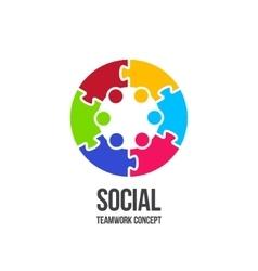 Social teamwork concept vector
