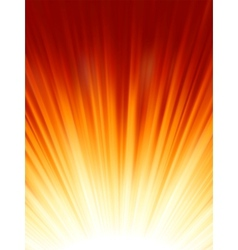 Red luminous rays vector