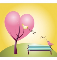 Loving birds vector