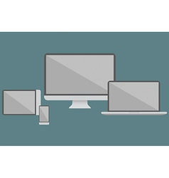 Flat design electronic devices vector