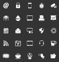 Internet cafe icons on gray background vector