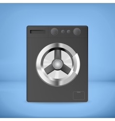 Black washing machine vector