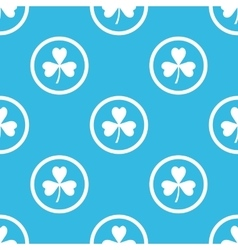 Clover sign blue pattern vector