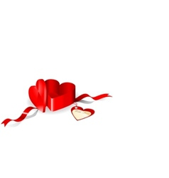 Gift box in a shape of heart vector