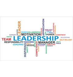 Word cloud leadership vector