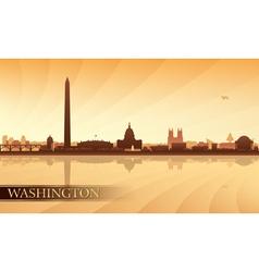 Washington city skyline silhouette background vector