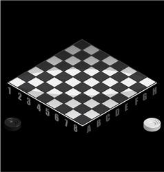 Board game checkers isometric view vector