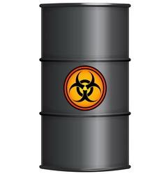 Black barrel with biohazard sign vector