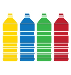 Colored bottle set vector