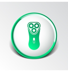 Electric shaver razor icon symbol vector
