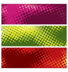 Grunge halftone banners vector