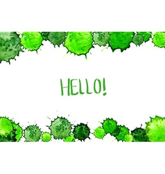 Watercolor colorful green blot background vector