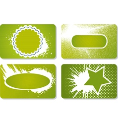 Set cards vector