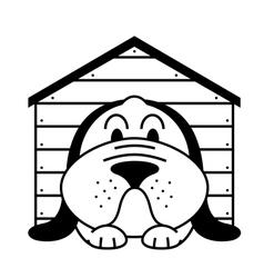 Kennel dog vector
