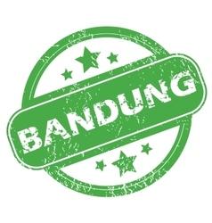 Bandung green stamp vector