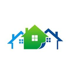 House realty construction logo vector