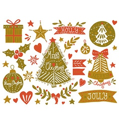 Christmas sketchy set vector