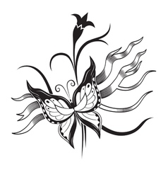 Decorative composition of curls and ornamented vector