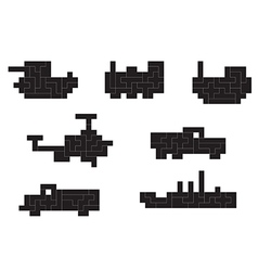 Transportation pixel vector