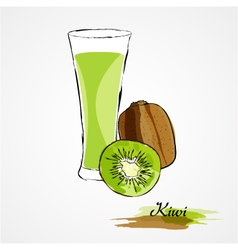 Kiwi fruit juice vector