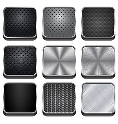 Metal app icons vector
