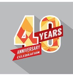 40th year anniversary celebration design vector