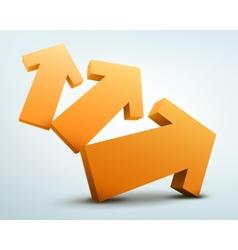 3d arrows logo design vector