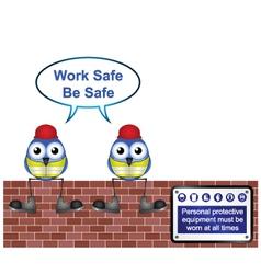 Workers work safe vector