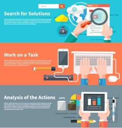 Search for solutions infographic vector