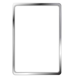Abstract metallic silver frame vector