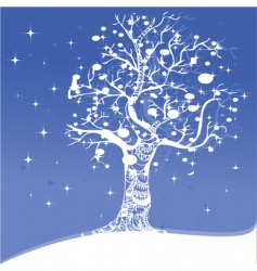 Snowflake tree vector