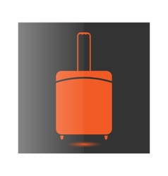 Icon suitcase vector