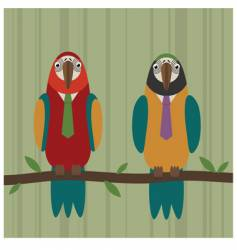 Parrot fashion vector