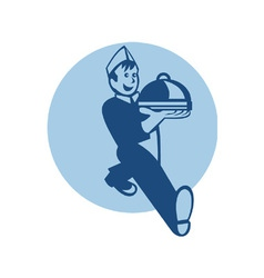 Waiter cook chef baker serving food vector