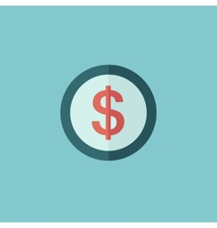 Dollar sign flat icon vector