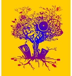 Music tree vector