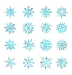 Watercolor snowflakes  star symbol graphic crystal vector