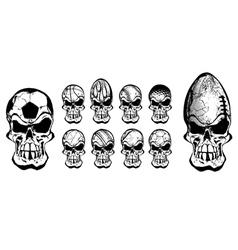 Ball skulls vector