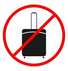 Icon ban luggage vector