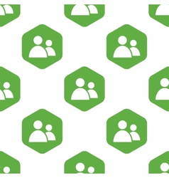 Contacts icon pattern vector