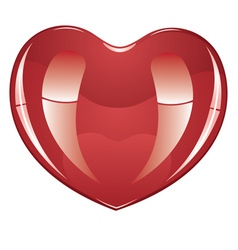 Glossy heart2 vector