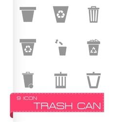 Trash can icon set vector