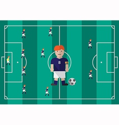 Soccer captain flat graphic vector