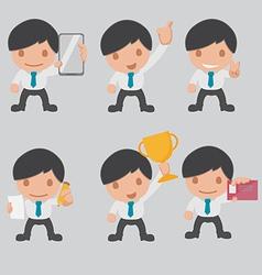 Character business worker cartoon set vector