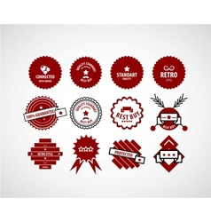 Red label set vector