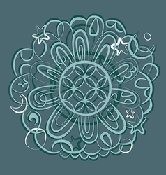 Fantasy mandala ornament vector