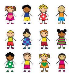 Cartoon children set vector