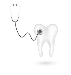 Stethoscope and tooth vector