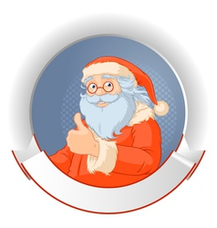 Santa with copy space logo vector