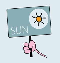 Panel for sunny weather vector